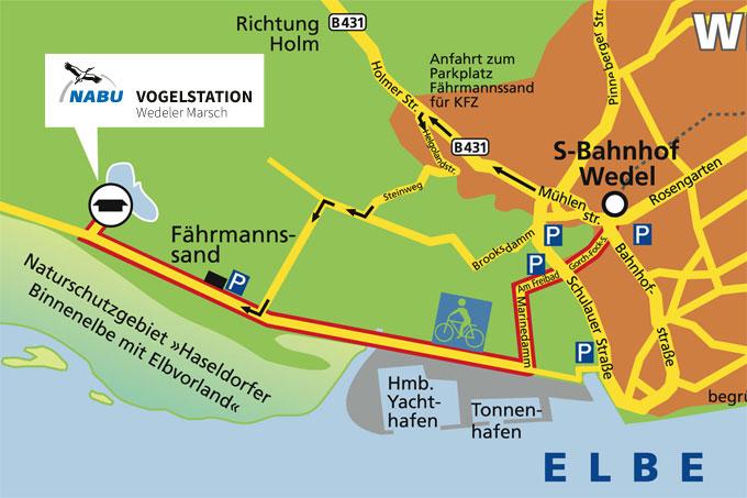 wedel hamburg karte Anfahrt zur NABU Vogelstation Wedeler Marsch   NABU Hamburg